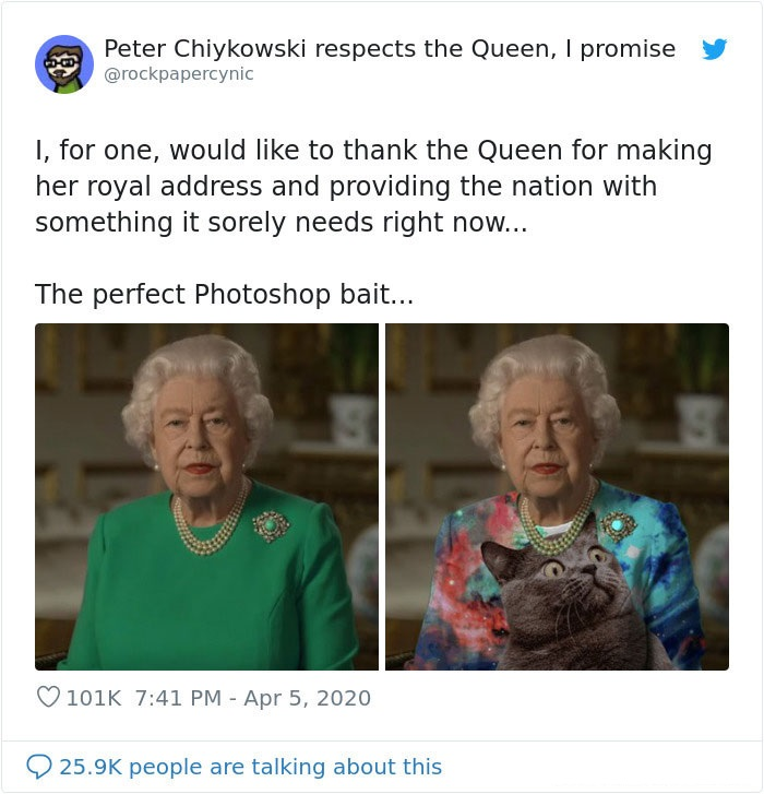 Peter Chiykowski queen elizabeth memes