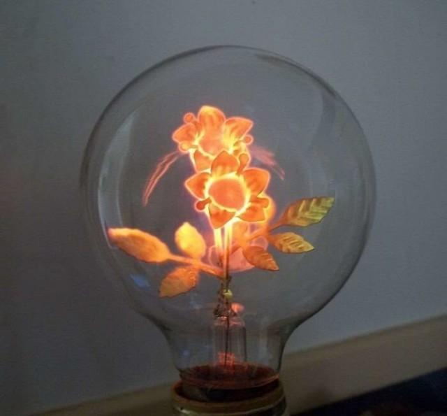 light bulb with a shape of a flower