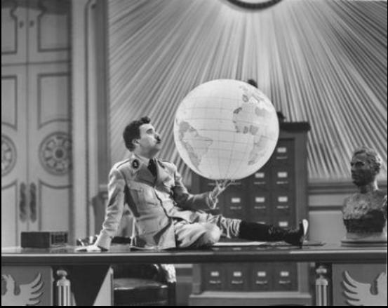 Chaplin in the globe Scene