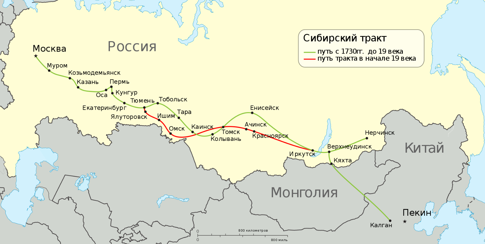 Siberia the map